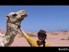 Hot blowjob in the desert...